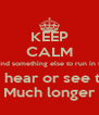 KEEP CALM They'll find something else to run in the hole U wont hear or see this shit Much longer - Personalised Poster A4 size
