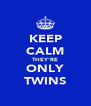 KEEP CALM THEY'RE ONLY TWINS - Personalised Poster A4 size