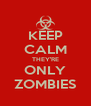 KEEP CALM THEY'RE ONLY ZOMBIES - Personalised Poster A4 size