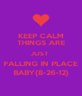 KEEP CALM THINGS ARE JUST  FALLING IN PLACE BABY(8-26-12) - Personalised Poster A4 size