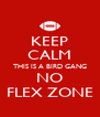 KEEP CALM THIS IS A BIRD GANG NO FLEX ZONE - Personalised Poster A4 size
