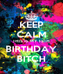 KEEP CALM THIS IS MY 15TH BIRTHDAY BITCH - Personalised Poster A4 size