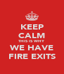KEEP CALM THIS IS WHY WE HAVE FIRE EXITS - Personalised Poster A4 size