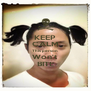 KEEP CALM This person  Won't BITE - Personalised Poster A4 size