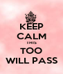 KEEP CALM THIS TOO WILL PASS - Personalised Poster A4 size