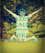 KEEP CALM @thkysmnr WILL TWEET YOU - Personalised Poster A4 size