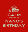 KEEP CALM TODAY IS NANO'S BIRTHDAY - Personalised Poster A4 size