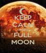 KEEP CALM tonight FULL MOON - Personalised Poster A4 size