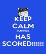 KEEP CALM TORRES HAS SCORED!!!!!! - Personalised Poster A4 size