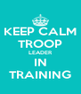 KEEP CALM TROOP LEADER IN TRAINING - Personalised Poster A4 size
