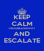 KEEP CALM TROUBLESHOOT AND ESCALATE - Personalised Poster A4 size