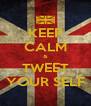 KEEP CALM & TWEET YOUR SELF - Personalised Poster A4 size