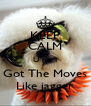 KEEP CALM U no I Got The Moves Like jagger - Personalised Poster A4 size