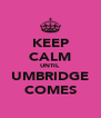 KEEP CALM UNTIL UMBRIDGE COMES - Personalised Poster A4 size
