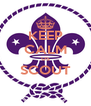 KEEP CALM US SCOUT  - Personalised Poster A4 size