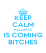 KEEP CALM VALLARTA IS COMING BITCHES - Personalised Poster A4 size