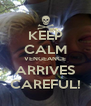 KEEP CALM VENGEANCE ARRIVES CAREFUL! - Personalised Poster A4 size