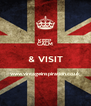KEEP CALM & VISIT www.vintageinspiration.co.uk  - Personalised Poster A4 size