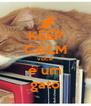 KEEP CALM você é um gato - Personalised Poster A4 size