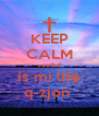 KEEP CALM voetbal is mi life q-zjon  - Personalised Poster A4 size