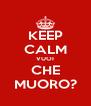 KEEP CALM VUOI CHE MUORO? - Personalised Poster A4 size