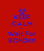 KEEP CALM &  Wait For BORDI!!! - Personalised Poster A4 size