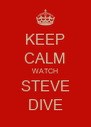KEEP CALM WATCH STEVE DIVE - Personalised Poster A4 size