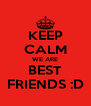 KEEP CALM WE ARE BEST FRIENDS :D - Personalised Poster A4 size
