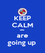 KEEP CALM we  are going up  - Personalised Poster A4 size
