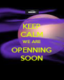 KEEP CALM WE ARE OPENNING SOON - Personalised Poster A4 size
