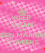 KEEP CALM WE BEEN MARRIED 17 WEEKS - Personalised Poster A4 size
