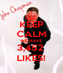 KEEP CALM WE HAVE 3,452  LIKES! - Personalised Poster A4 size