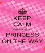 KEEP CALM WE HAVE A  PRINCESS ON THE WAY - Personalised Poster A4 size