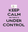 KEEP CALM we have it UNDER CONTROL - Personalised Poster A4 size
