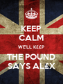 KEEP CALM WE'LL K££P THE POUND SAYS AL£X - Personalised Poster A4 size