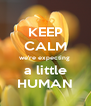 KEEP CALM we're expecting  a little HUMAN - Personalised Poster A4 size