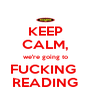KEEP CALM, we're going to FUCKING  READING - Personalised Poster A4 size