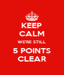 KEEP CALM WE'RE STILL 5 POINTS CLEAR - Personalised Poster A4 size