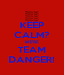 KEEP CALM? WE'RE TEAM DANGER! - Personalised Poster A4 size