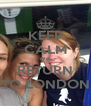 KEEP CALM We  RETURN TO LONDON - Personalised Poster A4 size