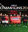 KEEP CALM We're  20 times Champions - Personalised Poster A4 size