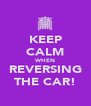 KEEP CALM WHEN REVERSING THE CAR! - Personalised Poster A4 size