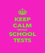 KEEP CALM WHILE SCHOOL TESTS - Personalised Poster A4 size