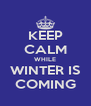 KEEP CALM WHILE WINTER IS COMING - Personalised Poster A4 size