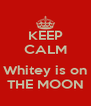 KEEP CALM  Whitey is on THE MOON - Personalised Poster A4 size