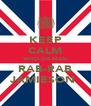 KEEP CALM WHO DA MAN RAB-RAB JAMIESON  - Personalised Poster A4 size