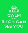 KEEP CALM WHY BITCH CAN SEE YOU - Personalised Poster A4 size