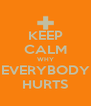 KEEP CALM WHY EVERYBODY HURTS - Personalised Poster A4 size