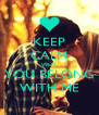 KEEP CALM WHY YOU BELONG WITH ME - Personalised Poster A4 size