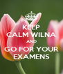 KEEP CALM WILNA AND GO FOR YOUR EXAMENS - Personalised Poster A4 size